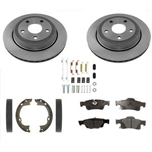 Fits For Jeep GRAND CHEROKEE 11-18 Rr Vented Disc Brake Rotors Brake Pads 350 5p