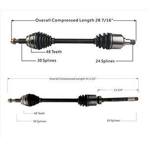 2- FRONT CV Drive Axle Shaft for All Wheel Drive AWD Toyota Sienna Van AWD 11-16