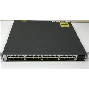 Cisco Catalyst 48 Port Gigabit Switch WS-C3750E-48TD-S