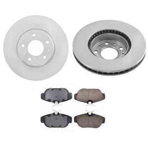 94-95 Volvo 940 With ABS & 94 Volvo 960 With ABS (2) Front Brake Rotors & Pads