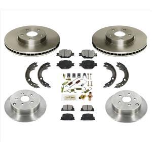 Front & Rear Brake Disc Rotors & Ceramic Pads 8pc Fits 2005-10 Scion TC