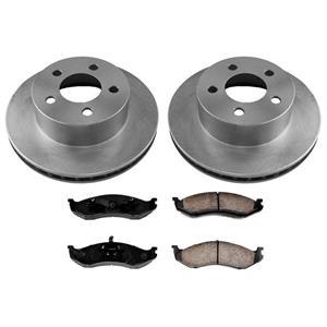Front Brake Rotors & Ceramic Brake Pads for Jeep Grand Cherokee 93-98