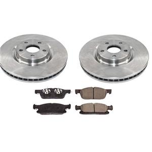 Front Rotors & Ceramic Brake Pads for 15-18 Ford Edge Front Wheel Drive 316mm