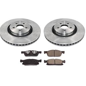 Front Brake Rotors Brake Pads For Ford Edge 15-18 All Wheel Drive W/ 345MM Rotor