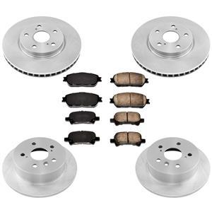 Front Rear Disc Brake Rotors Ceramic Brake Pads for Toyota Solara 2004-2008