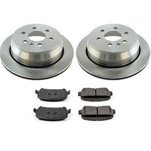 REAR Brake Rotors Ceramic Brake Pads for Chevrolet Colorado 15-19 3Pc Kit