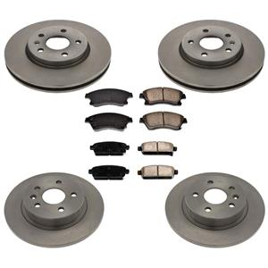 Front & Rear Disc Brake Rotor Brake Pads for Chevrolet Cruze 1.4L & 1.8 10-15