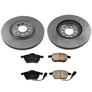 Front 312MM Rotors With Ceramic Pads 3pc Kit for Audi TT 1.8L Only 00-06