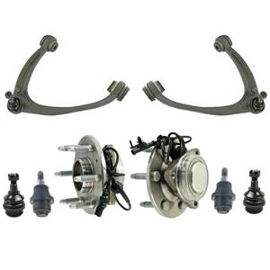 Control Arms Ball Joints for Chevrolet Silverado 1500 07-13 Rear Wheel Drive 8pc