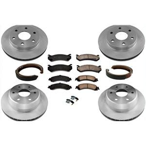 Brake Rotors Brake Pads Parking Shoes for Chevrolet Tahoe 00-06 4 Wheel Drive