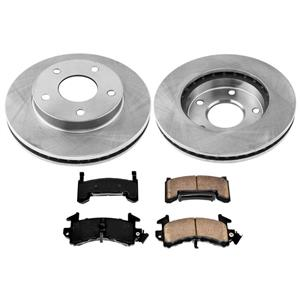 Front or Rear Disc Brake Rotors and Ceramic Brake Pads for GMC Vintages Vehicles