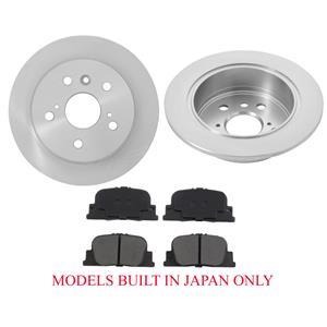 Rear Rotors & Brake Pads Fits 00-01 Toyota Camry V6 3.0L Built In JAPAN Models