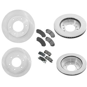 Fits 01-06 Mitsubishi Montero Front & Rear Brake Disc Rotors & Ceramic Pads 6Pc