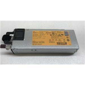 HPE 800W Flex Shot Platinum 80 Plus Power Supply for Gen9 754381-001 720479-B21