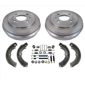 For 02-07 Mitsubishi 14Inch Rim Lancer ES SE Brake Drums & Shoes & Brake Springs