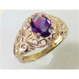 R113, Amethyst, Gold Ring