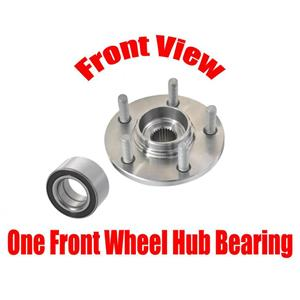 ONE Front Spindle Wheel Hub & Front Wheel Bearing for Ford Windstar 1996-1998