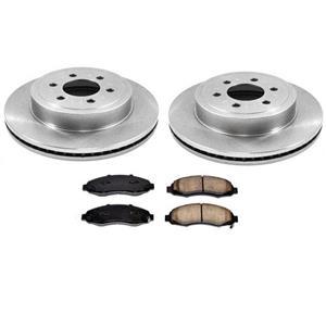 3Pc Kit Front Brake Rotors & Ceramic Brake Pads for Dodge Dakota 2003-2004