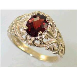 R113, Mozambique Garnet, Gold Ring
