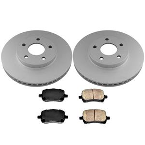 With 4 Wheel Disc Brakes Front Brake Rotors Pads 3pc for Pontiac G5 08-09