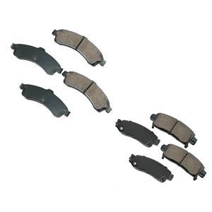 Fits 2002-2005 Chevrolet Trailblazer & EXT Front & Rear Ceramic Brake Pads