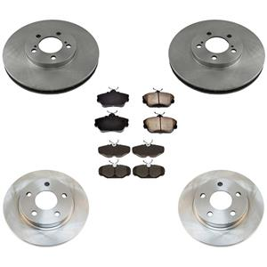Front Rear Rotors Brake Pads for Ford Taurus With 4 Wheel Disc Brakes 2001-2007