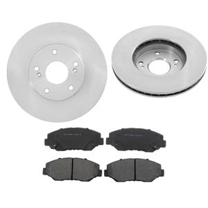 Fits 2003 to 2011 Honda Element (2) Front Brake Rotors & Ceramic Pads