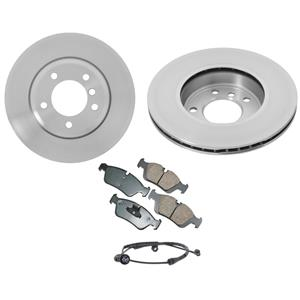 Fits BMW 323is 323ic 323i Front Brake Rotors Ceramic Pads & Wear Sensor