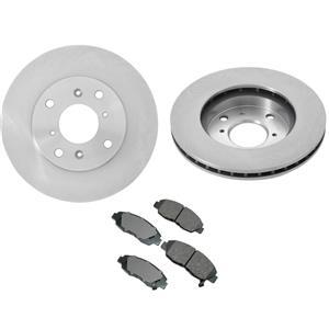 Fits 98-02 Honda Accord 4 Door 4 Cylinder (2) Front Brake Rotors & Ceramic Pads