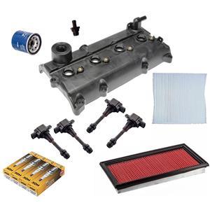 Valve Cover Gasket Kit Spark Plug & Ignition Coils for Nissan Altima 02-06 13PCS