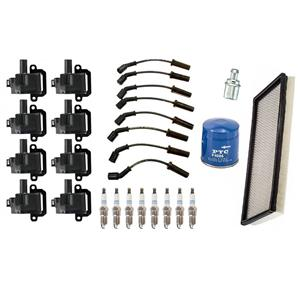 Wires Coils Iridium Spark Plugs Oil Air Filters for Chevrolet Corvette 5.7 97-04