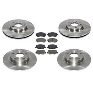 Front & Rear Brake Disc Rotors & Ceramic Brake Pads for Mazda 6 2.5L 2014-2015
