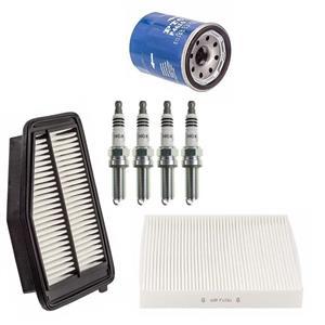 Oil Cabin Air Filters & NGK Iridium Plugs for Honda Civic 1.8L 12-15 7pc Kit