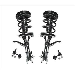 Fits For 2002-2006 Honda CRV Front Complete Struts and Front Sway Bar Links 4Pc