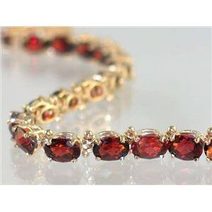 B001, Mozambique Garnet Gold Bracelet