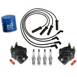 100% New Spark Plugs Wires Coils Oil Filter for Chevrolet S10 Pick Up 2.2L 94-95