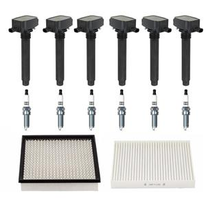 Ignition Coils Spark Plugs Air & Cabin Filters 14 pc Dodge Avenger 3.6L (11-14)