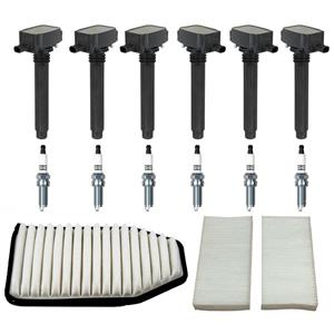 Direct Ignition Coils Spark Plugs Air Filters for Jeep Wranger 3.6L (13-17) 15pc