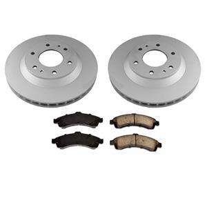 Front Disc Brake Rotors & Ceramic Pads for Chevrolet Trailblazer Ext 2002-2005