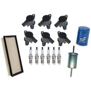 Ignition Coils Platinum Plugs Oil Air Filters for Lincoln LS 00-05 3.0 15pc