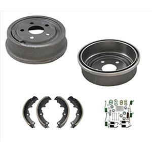 (2) 200MM 8 Inch GM Cars Rear 80008 Brake Drum & B553 Shoes W Springs H7281