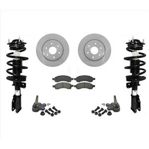 Complete Quick Coil Spring Struts F Rotors Pads Ball Joints 07-13 GMC Acadia