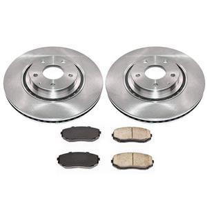 (2) FRONT Brake Rotors & Ceramic Pads All New for Mazda CX-9 16-19 2.5L Turbo