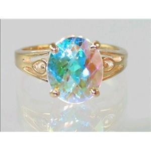 R139, Mercury Mist Topaz, Gold Ring