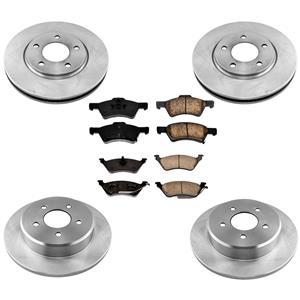 Brake Rotors Brake Pads for Chrysler Grand Voyager 01-07 w 4 Wheel Brake Rotors