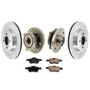 Front Brake Disc Rotors & Pads Hub Wheel Bearings 5pc for Mini Cooper 02-04