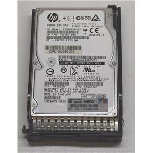 "HP HUC109060CSS600 600GB 10k 2.5"" SAS 6 Gbps HDD 641552-003 w/ Tray 653957-001"