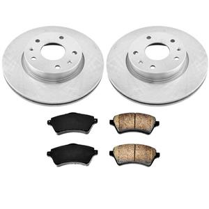 Front Brake Rotors & Ceramic Pads 3Pc Kit for Land Rover Freelander 2002-2005