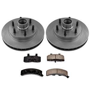 6 Lug Disc Brake Rotors & Ceramic Pads for GMC Savanna G2500 96-02 6 Stud Only