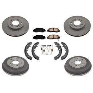 Rotors Brake Pads Drums Brake Shoes Springs Kit for Honda CRV 1997-2001 7pc